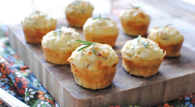 Savory Onion Mini Muffins