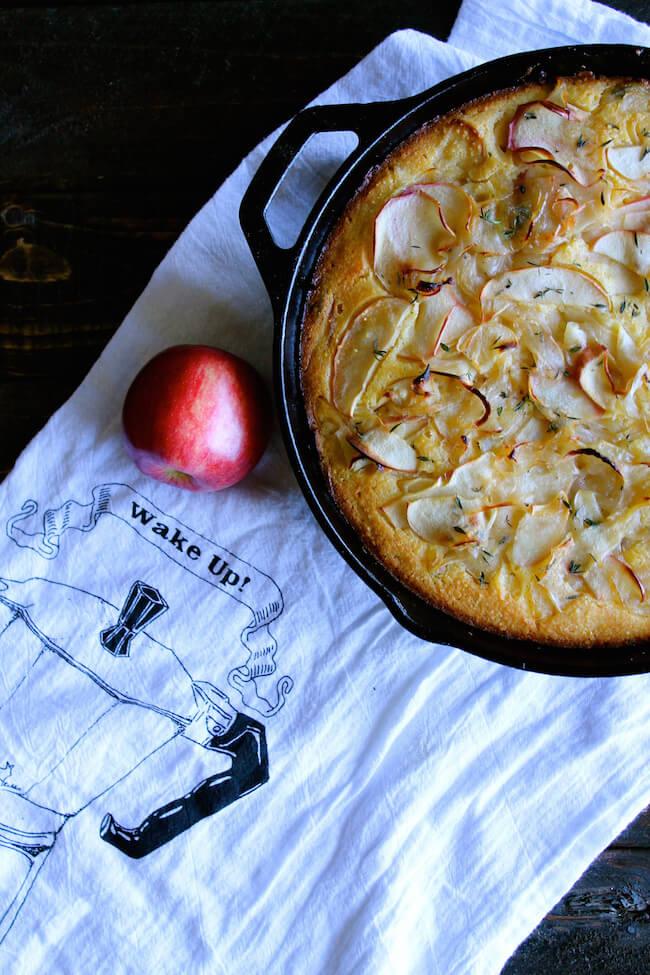 Caramelized Onion & Apple Cornbread