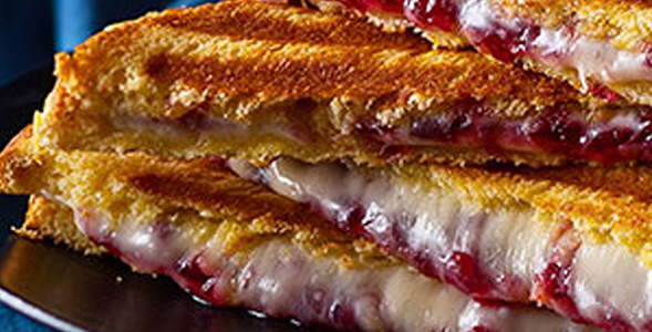 Caramelized onion brie cranberry panini small