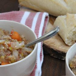 SpicyTurkeyOnionLentil Soup